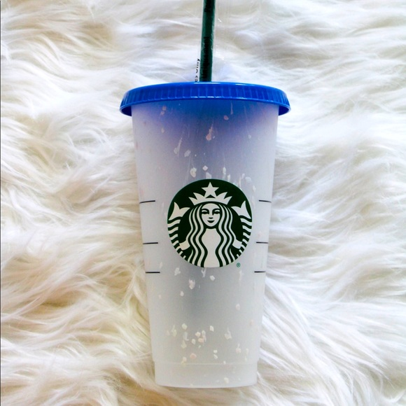Starbucks Color Changing Cold Cup and Straw